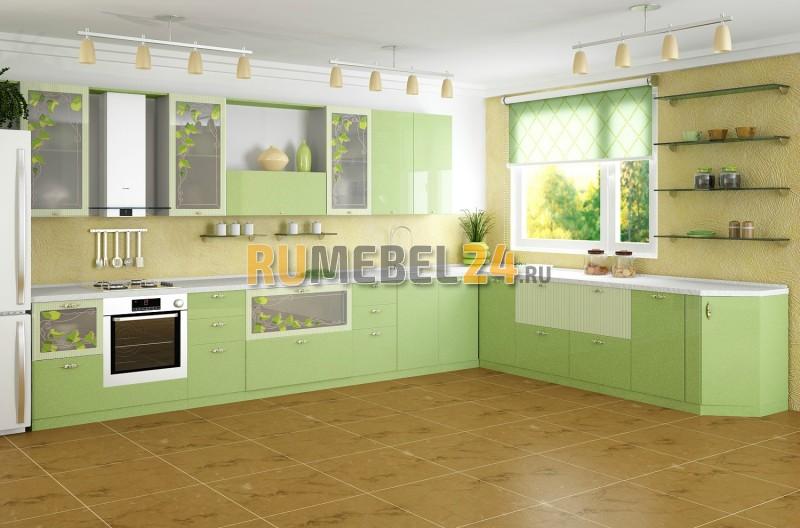 Салатовая кухня в интерьере фото